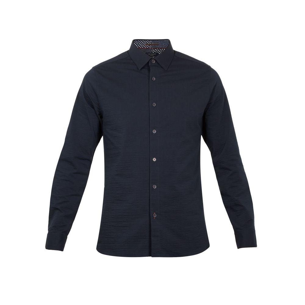 テッドベーカー Ted Baker メンズ トップス シャツ【Padding Ls Seersucker Shirt】navy