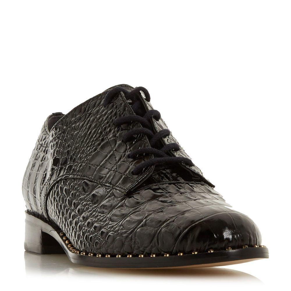 デューン Dune レディース シューズ・靴 ローファー・オックスフォード【Francisco Stud Rand Lace Up Shoes】black