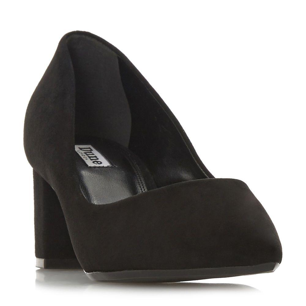 デューン Dune レディース シューズ・靴 パンプス【Arve Pointed Mid Block Heel Court Shoes】black