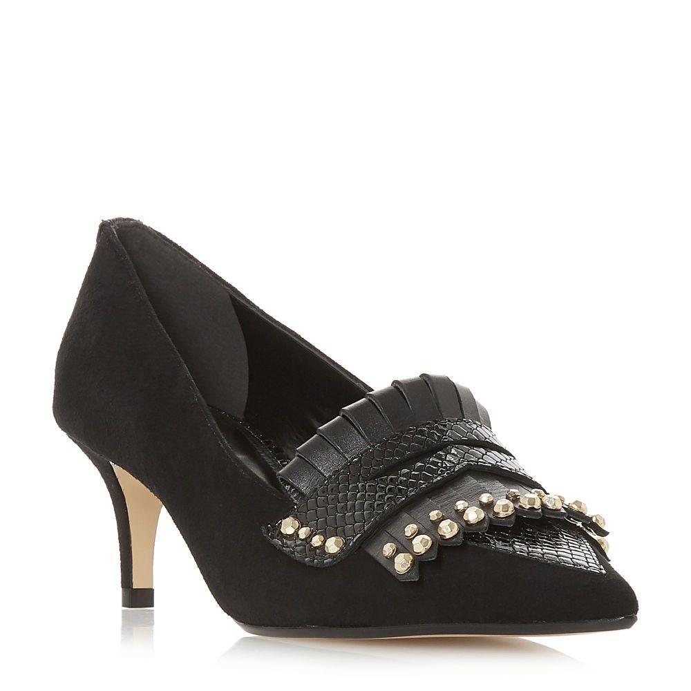 デューン Dune レディース シューズ・靴 ローファー・オックスフォード【Bryoney Kilted Kitten Loafers】black