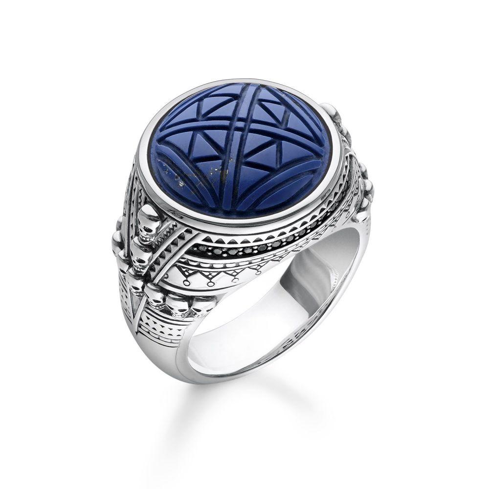 トーマスサボ Thomas Sabo レディース ジュエリー・アクセサリー 指輪・リング【Desert Sky Blue Ethnic Skulls Signet Ring】blue