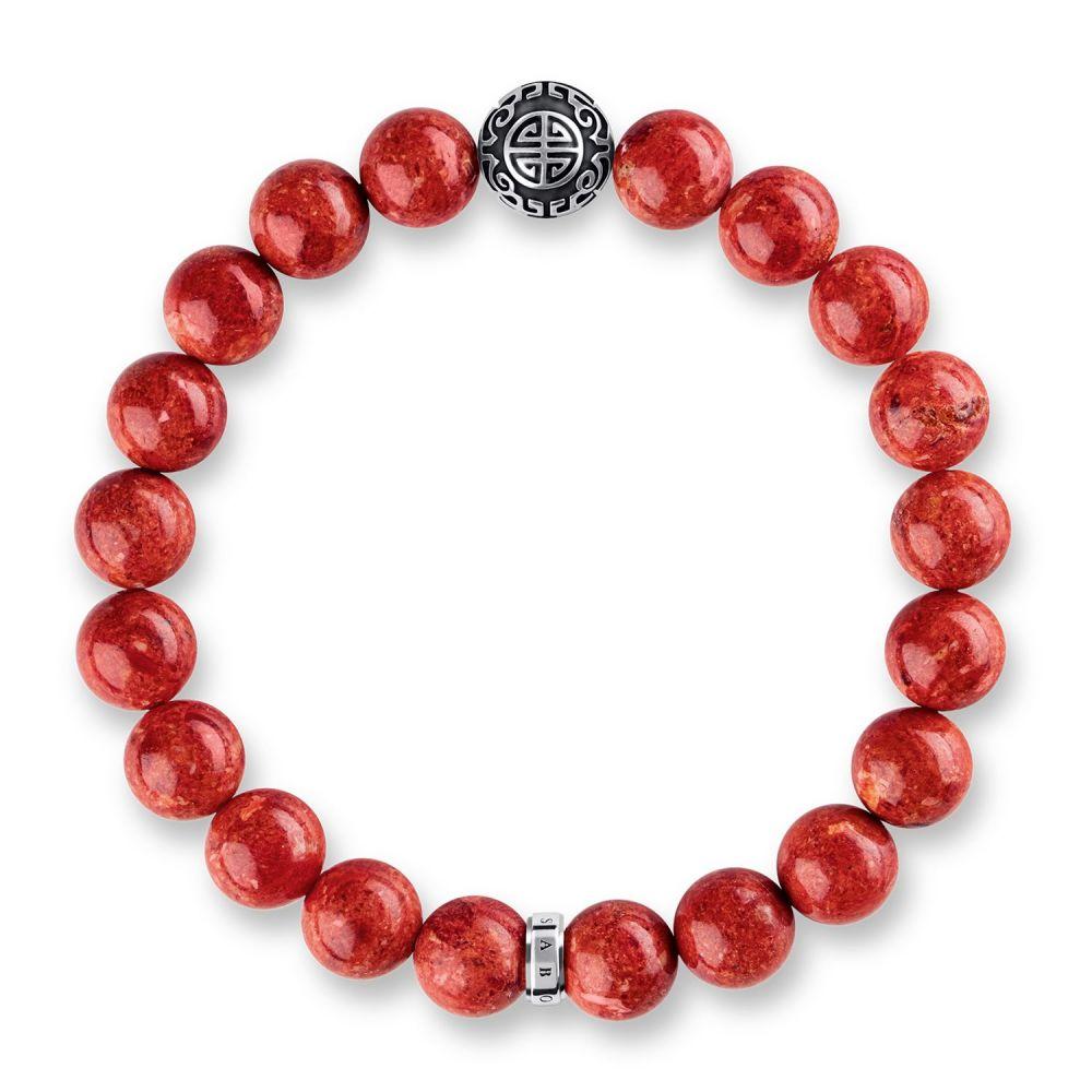 トーマスサボ Thomas Sabo レディース ジュエリー・アクセサリー ブレスレット【Rebel At Heart Mala Red Coral Bracelet】red