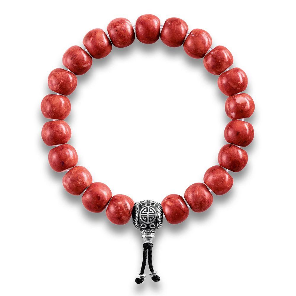 トーマスサボ Thomas Sabo レディース ジュエリー・アクセサリー ブレスレット【Rebel At Heart Mala Red Coral Beaded Bracelet】red