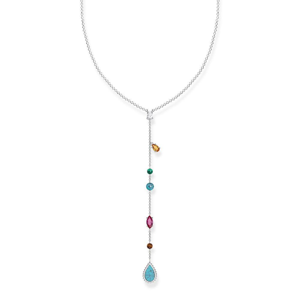 トーマスサボ Thomas Sabo レディース ジュエリー・アクセサリー ネックレス【Riviera Colours Long Multi-charm Necklace】multi-coloured