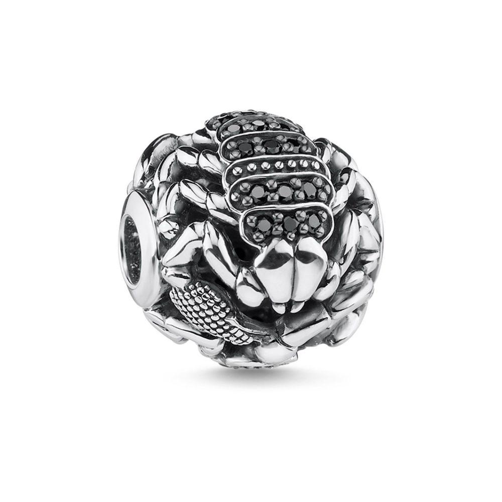 トーマスサボ Thomas Sabo レディース ジュエリー・アクセサリー【Scorpion Karma Bead】black