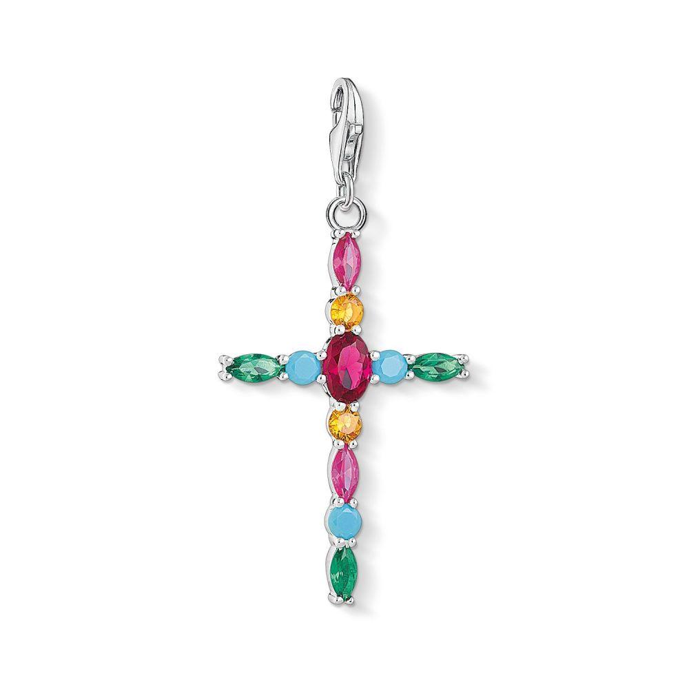 トーマスサボ Thomas Sabo Thomas レディース ジュエリー Cross・アクセサリー【Colourful Cross Xl Xl Charm Pendant】multi-coloured, Dacco:15d1563b --- fancycertifieds.xyz