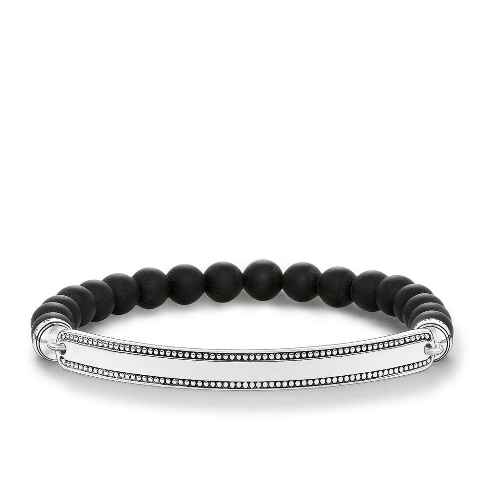 トーマスサボ Thomas Sabo レディース ジュエリー・アクセサリー ブレスレット【Love Bridge Black Zirconia Bracelet】black