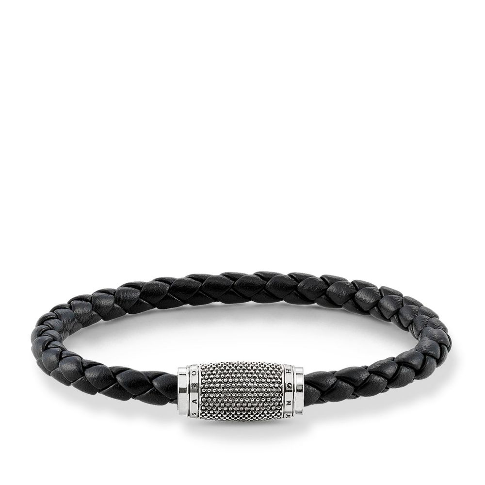 トーマスサボ Thomas Sabo レディース ジュエリー・アクセサリー ブレスレット【Plaited Relief Unity Bracelet】black