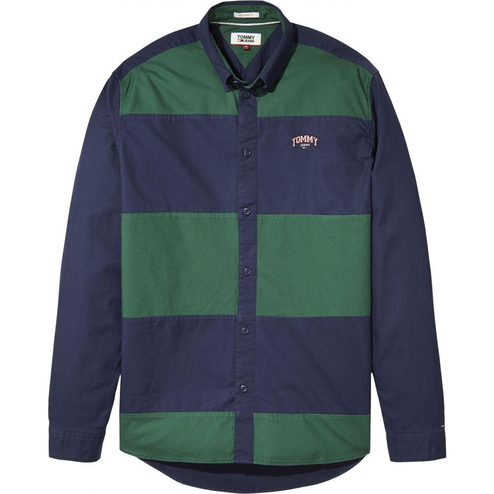 トミー ヒルフィガー Tommy Hilfiger メンズ トップス シャツ【Tommy Jeans Retro Block Shirt】navy