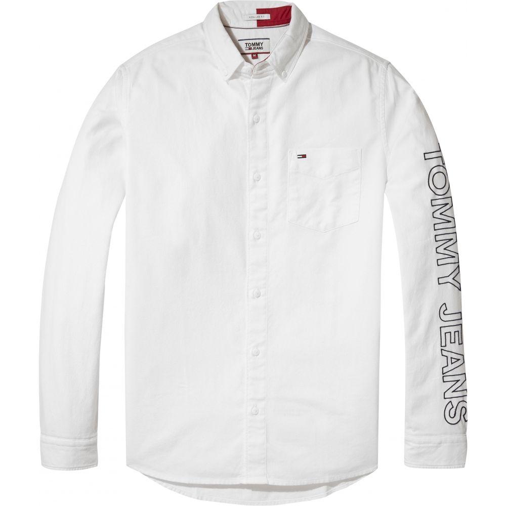 トミー ヒルフィガー Tommy Hilfiger メンズ トップス シャツ【Tommy Jeans Solid Brushed Shirt】white