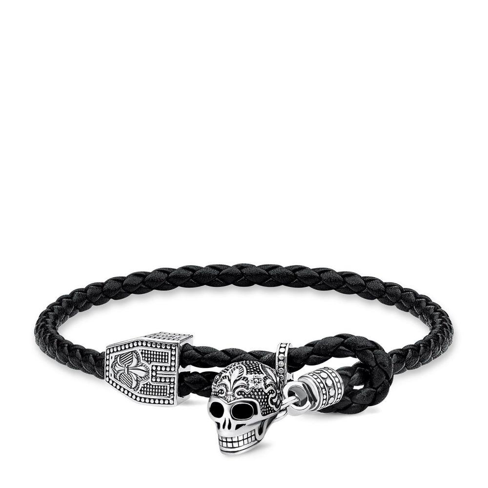 トーマスサボ Thomas Sabo レディース ジュエリー・アクセサリー ブレスレット【Skull Leather Bracelet】black