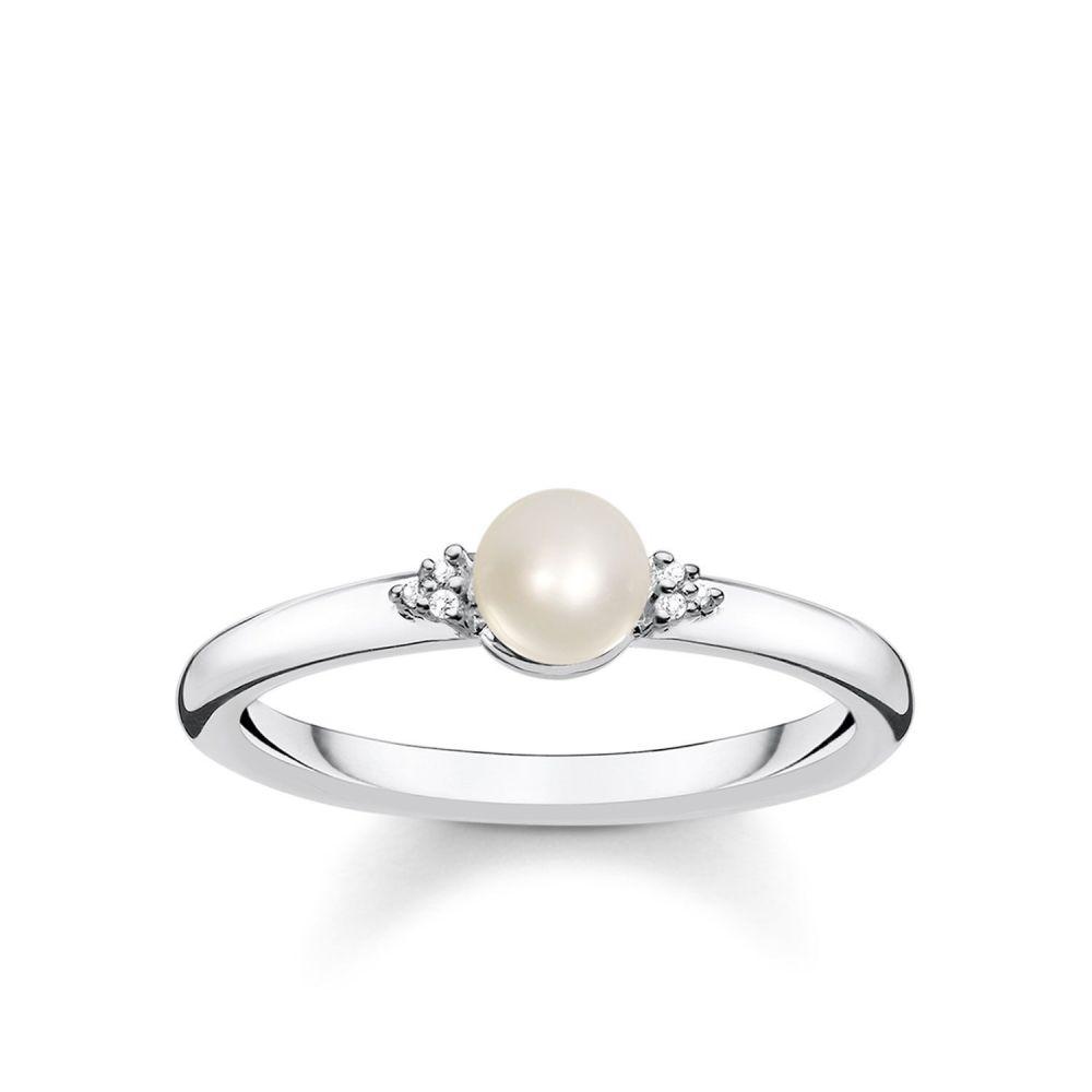 トーマスサボ Thomas Sabo レディース ジュエリー・アクセサリー 指輪・リング【Vintage Diamond And Pearl Ring】white