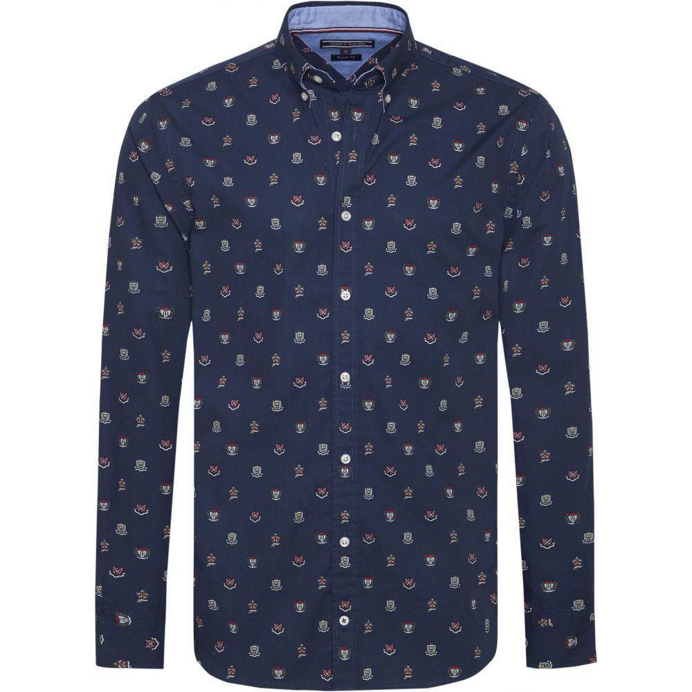 トミー ヒルフィガー Tommy Hilfiger メンズ トップス シャツ【Allover Print Shirt】dark blue