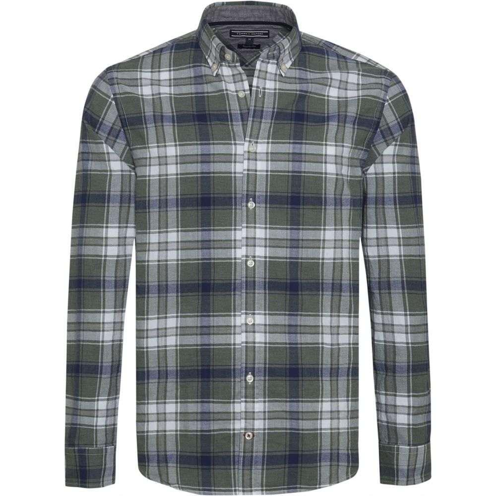 トミー ヒルフィガー Tommy Hilfiger メンズ トップス シャツ【Long Sleeve Checked Shirt】green