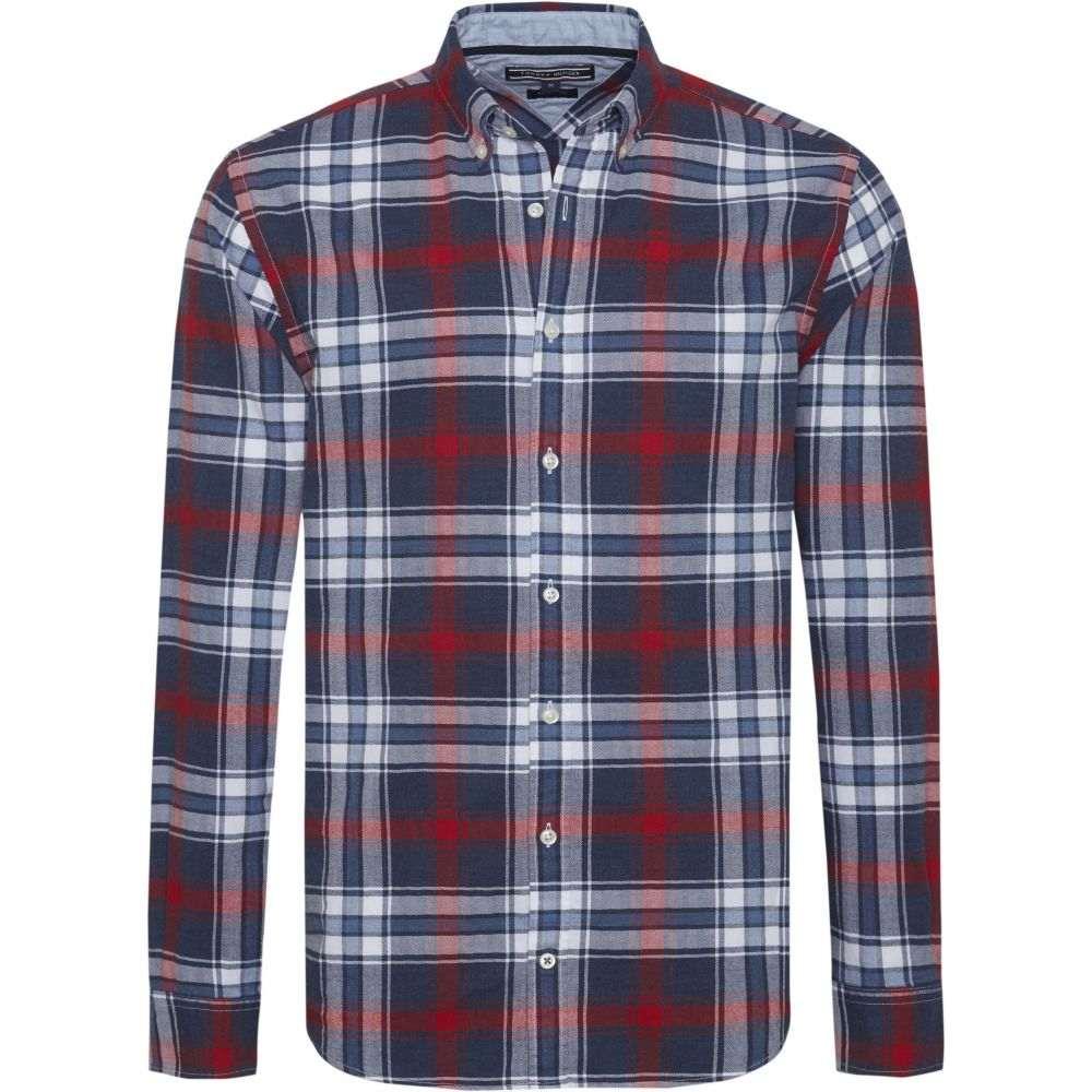 トミー ヒルフィガー Tommy Hilfiger メンズ トップス シャツ【Long Sleeve Checked Shirt】red