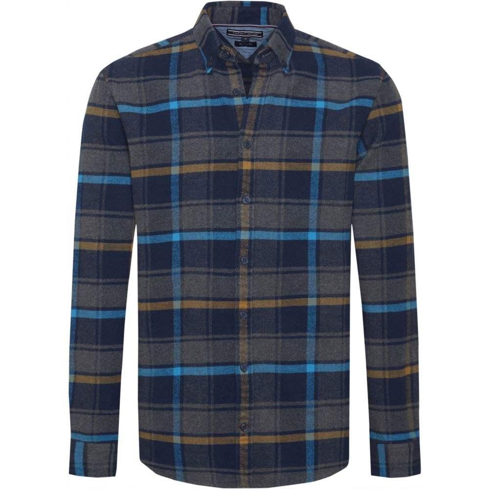 トミー ヒルフィガー Tommy Hilfiger メンズ トップス シャツ【Large Check Flannel Shirt】blue