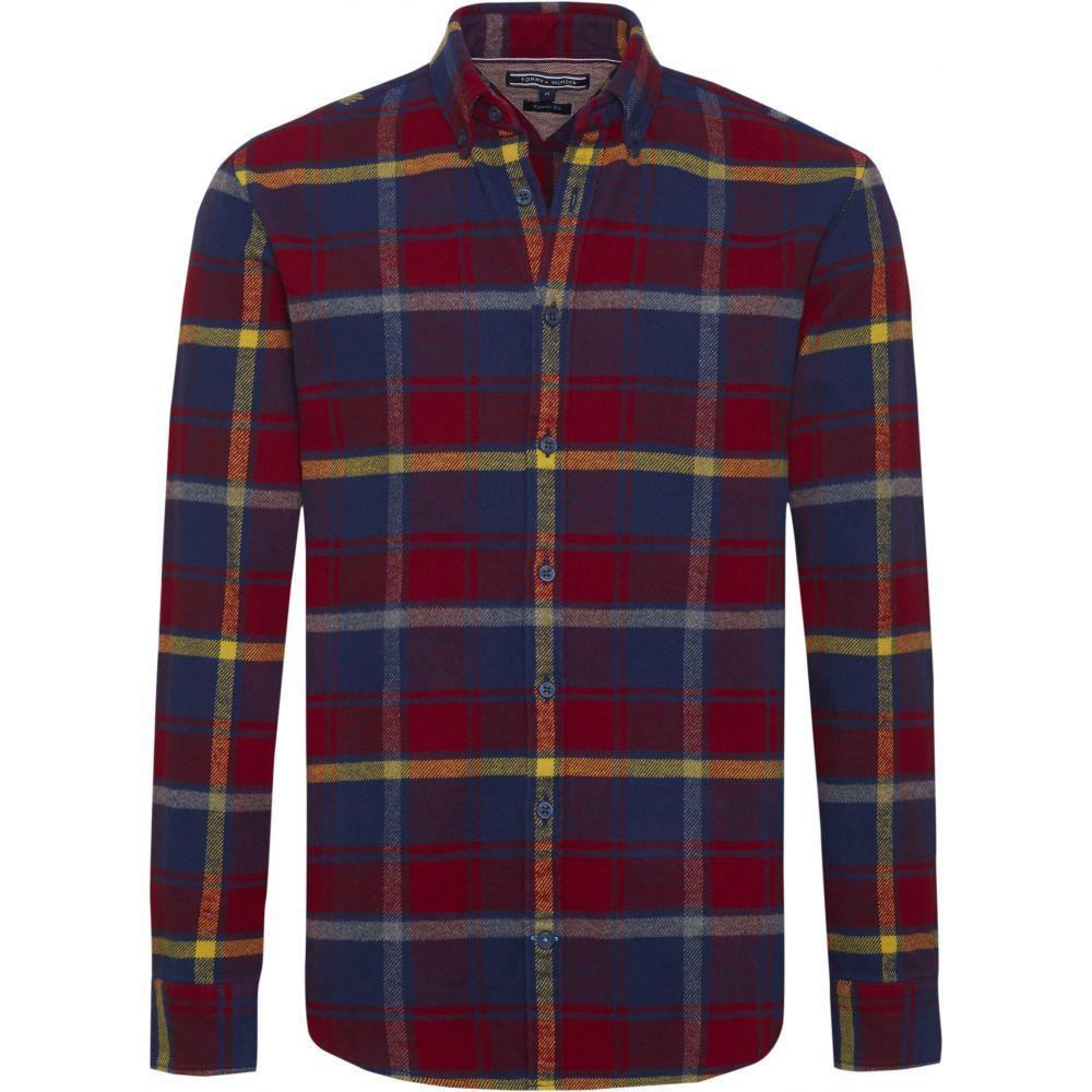 トミー ヒルフィガー Tommy Hilfiger メンズ トップス シャツ【Large Check Flannel Shirt】red