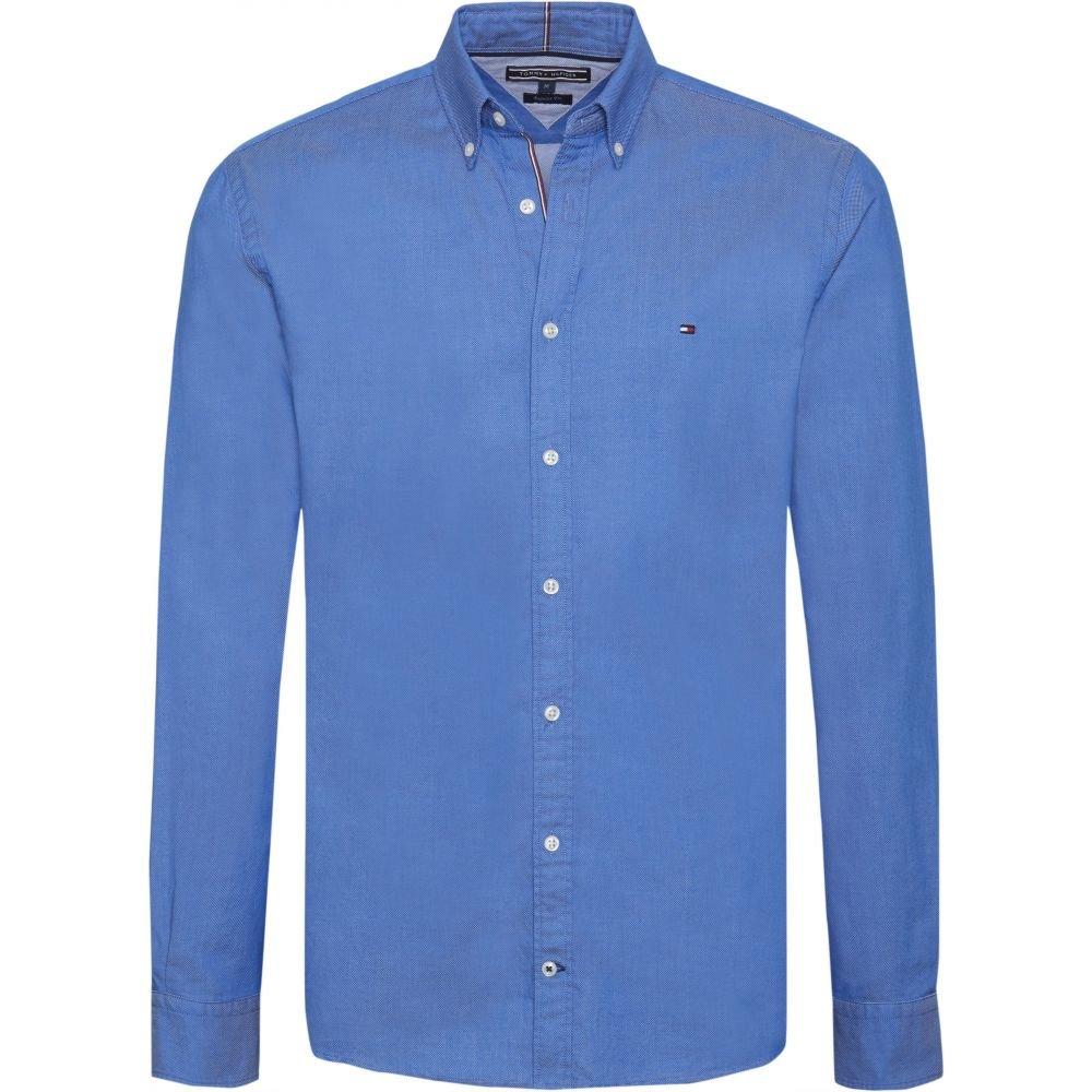 トミー ヒルフィガー Tommy Hilfiger メンズ トップス シャツ【Long Sleeve Dobby Shirt】royal blue