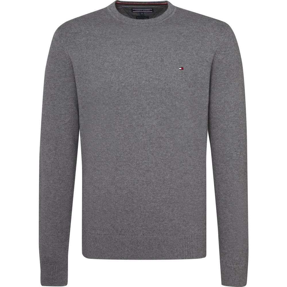 トミー ヒルフィガー Tommy Hilfiger メンズ トップス ニット・セーター【Long Sleeve Classic Sweater】mid grey