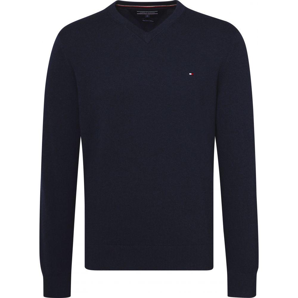 トミー ヒルフィガー Tommy Hilfiger メンズ トップス ニット・セーター【Classic Long Sleeve Vneck Sweater】dark blue