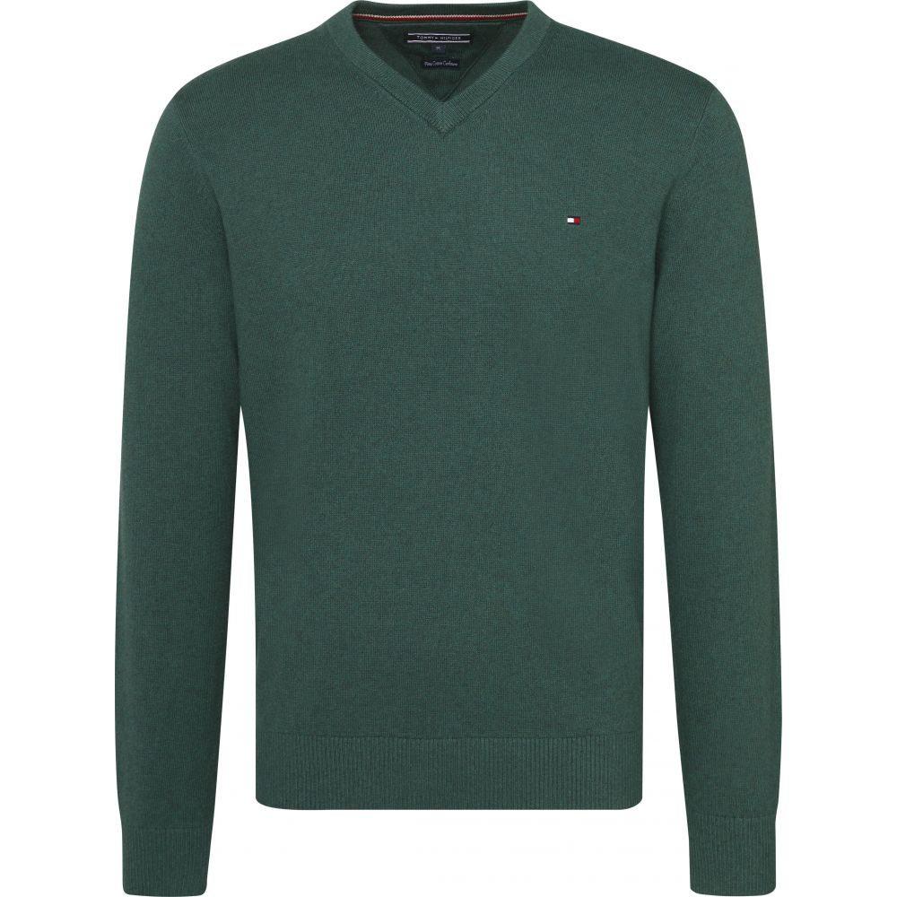 トミー ヒルフィガー Tommy Hilfiger メンズ トップス ニット・セーター【Classic Long Sleeve Vneck Sweater】forest green