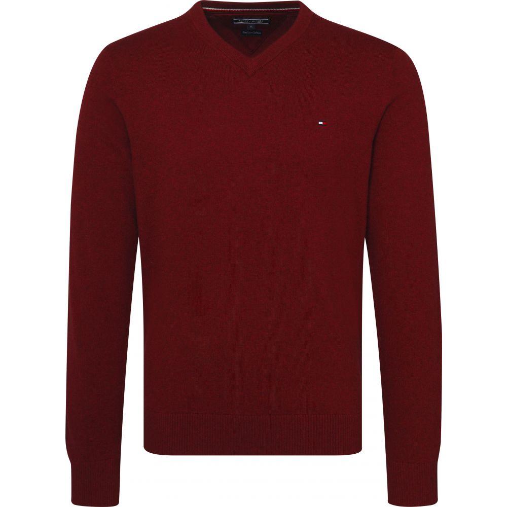 トミー ヒルフィガー Tommy Hilfiger メンズ トップス ニット・セーター【Classic Long Sleeve Vneck Sweater】dark red