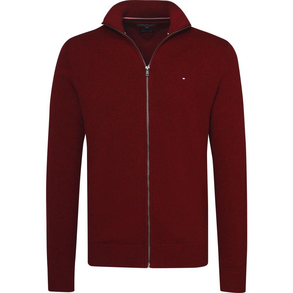 トミー ヒルフィガー Tommy Hilfiger メンズ トップス ニット・セーター【Classic Zip Up Sweater】dark red