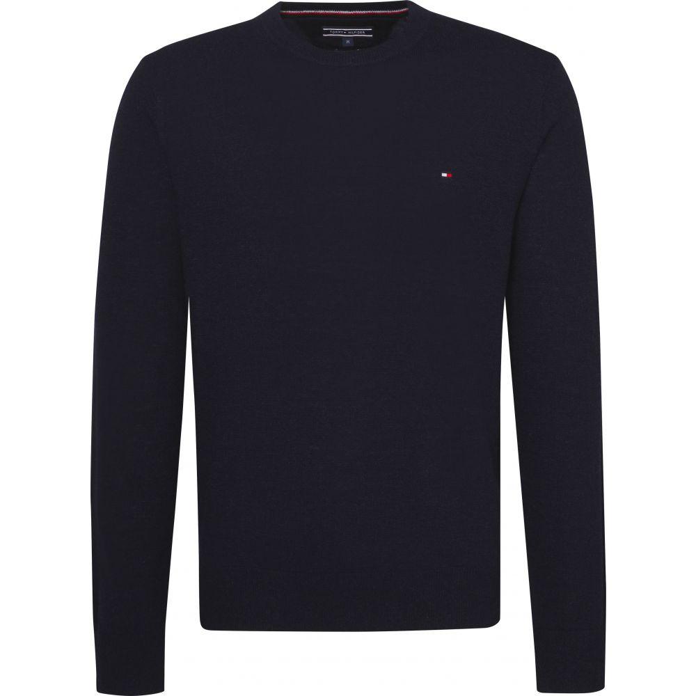 トミー ヒルフィガー Tommy Hilfiger メンズ トップス ニット・セーター【Long Sleeve Lambswool Sweater】dark blue