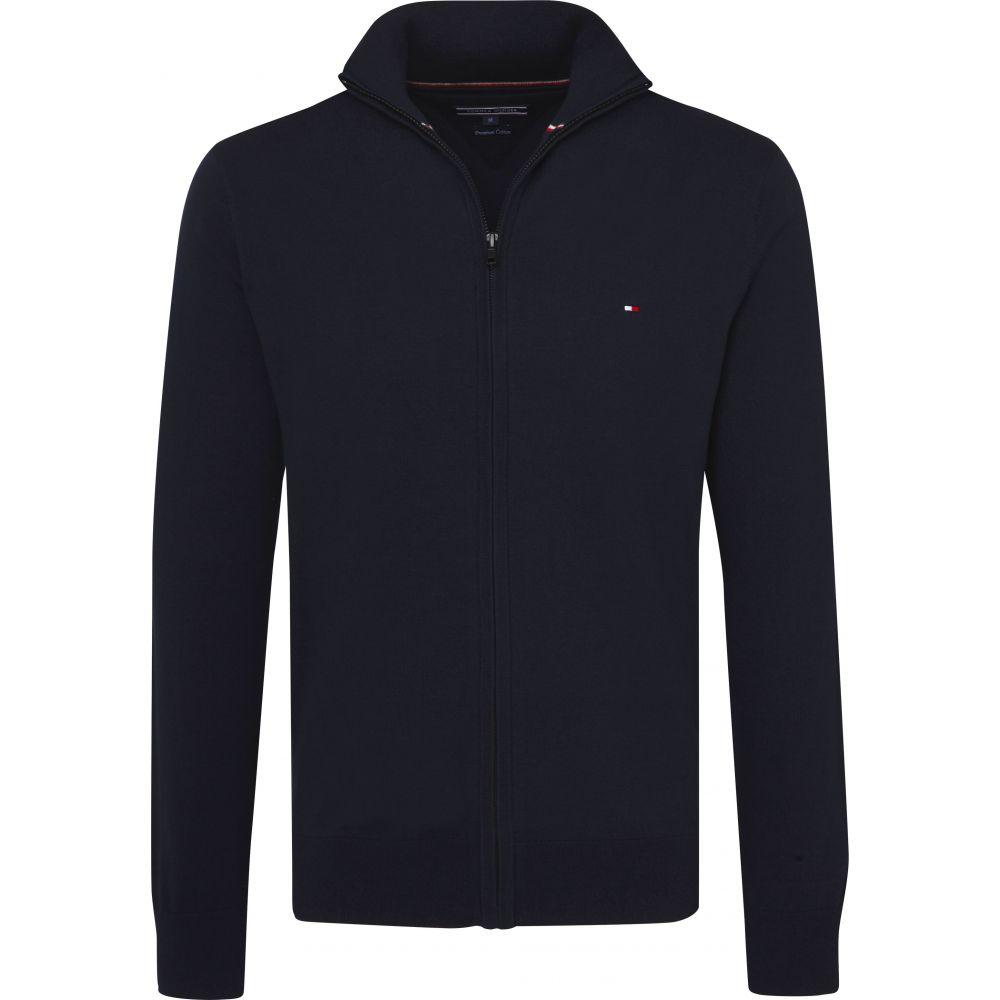 トミー ヒルフィガー Tommy Hilfiger メンズ トップス ニット・セーター【Classic Cotton Zip Up Sweater】dark blue