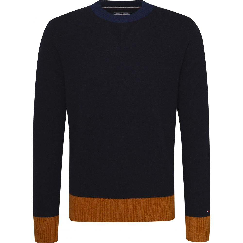 トミー ヒルフィガー Tommy Hilfiger メンズ トップス ニット・セーター【Colour Tipped Sweater】dark blue