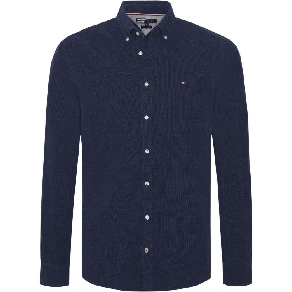 トミー ヒルフィガー Tommy Hilfiger メンズ トップス シャツ【Heather Corduroy Shirt】dark blue