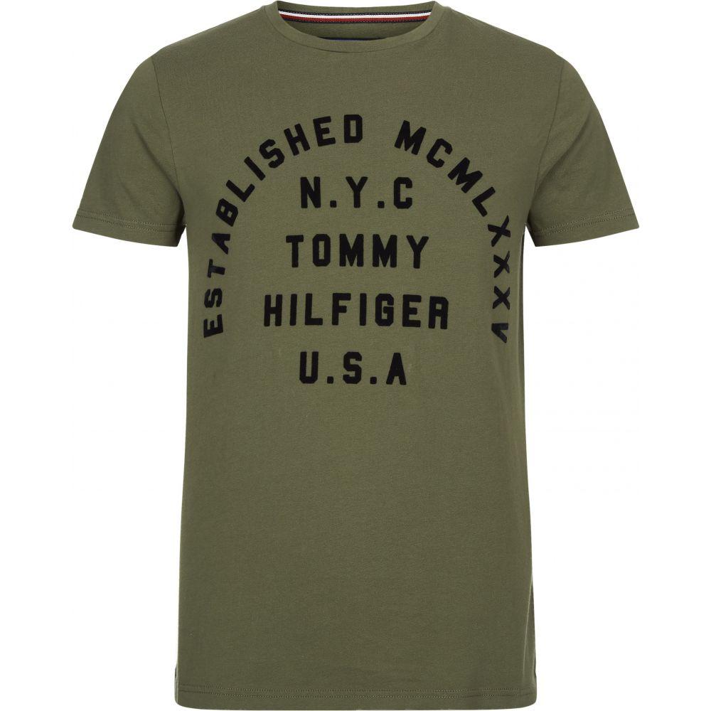 トミー ヒルフィガー Tommy Hilfiger メンズ トップス Tシャツ【Stamp Logo T-shirt】forest green
