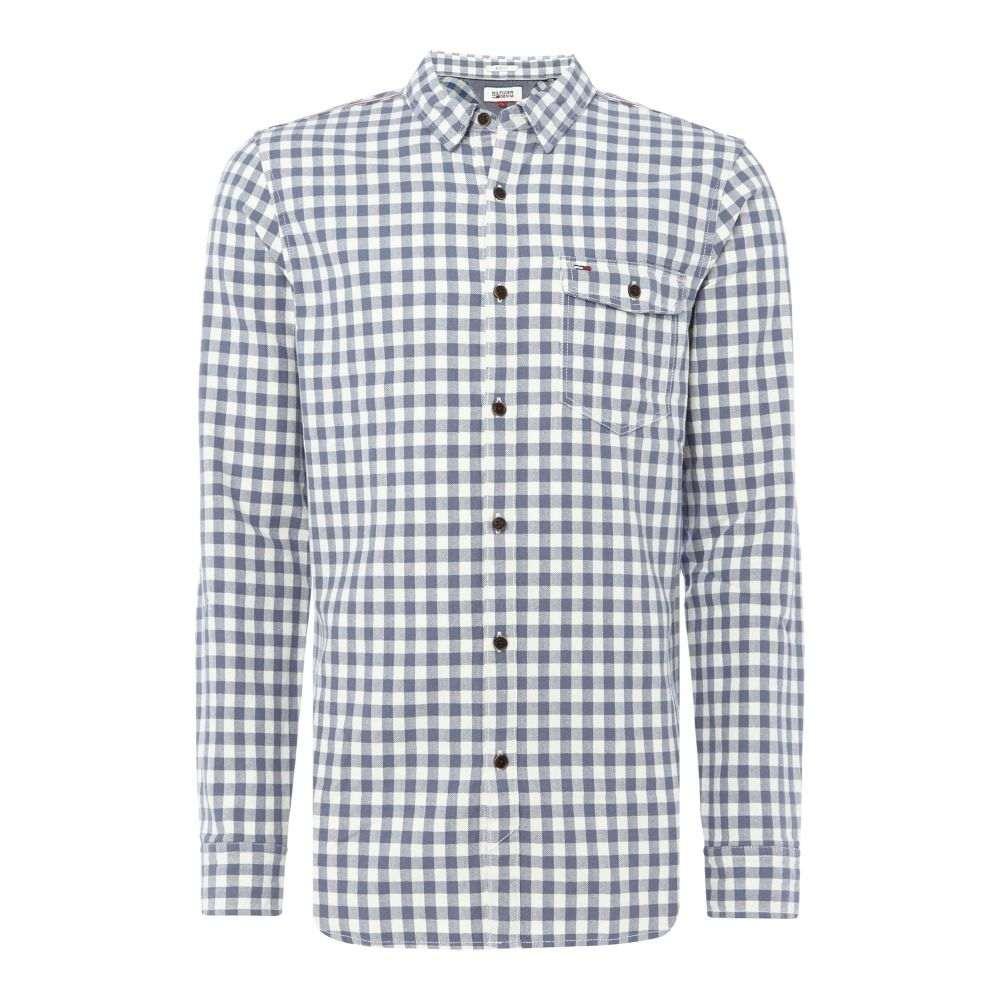 トミー ヒルフィガー Tommy Hilfiger メンズ トップス シャツ【Thdm Herringbone Gingham Shirt】white