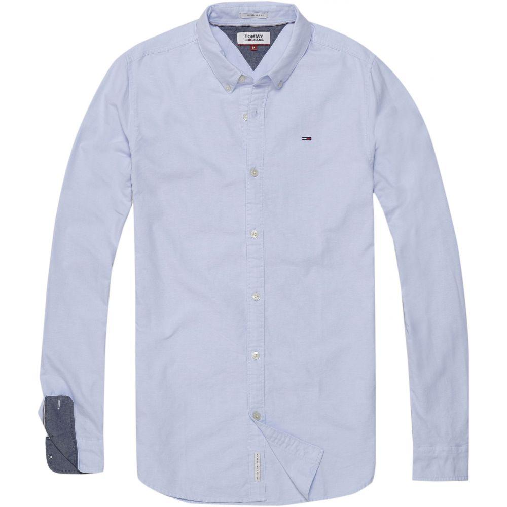 トミー ヒルフィガー Tommy Hilfiger メンズ トップス シャツ【Basic Solid Shirt】blue