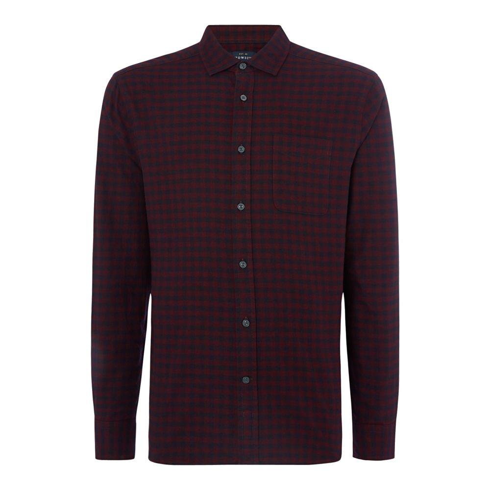 ハウィック Howick メンズ トップス シャツ【Bristol Gingham Long Sleeve Shirt】burgundy