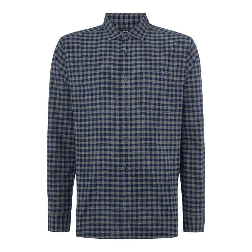ハウィック Howick メンズ トップス シャツ【Bristol Gingham Long Sleeve Shirt】grey marl