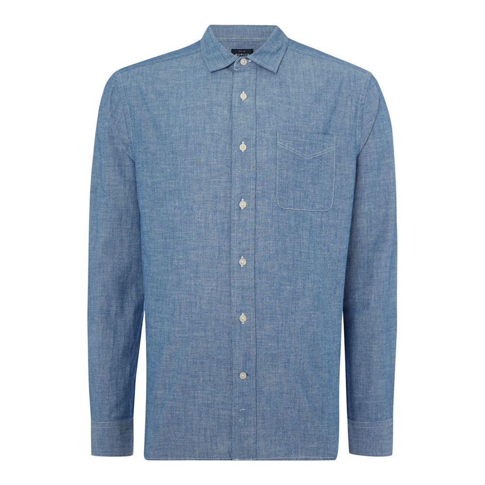 ハウィック Howick メンズ トップス シャツ【Anchor Chambray Long Sleeve Shirt】blue