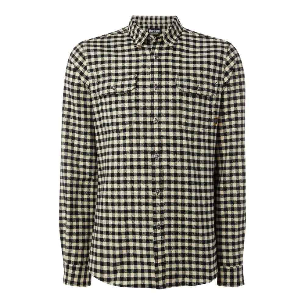バーブァー Barbour メンズ トップス シャツ【Long Sleeved Killinger Shirt】black