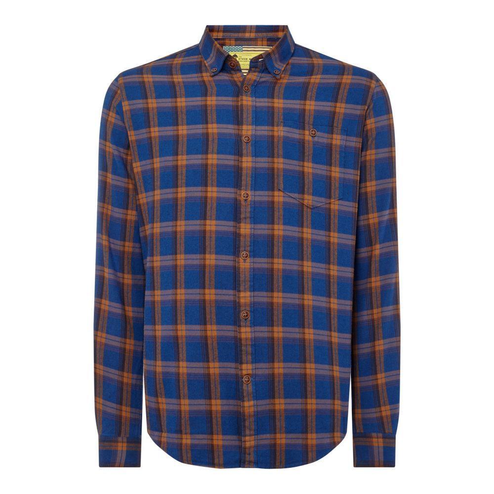 バーブァー Barbour メンズ トップス シャツ【B.intl Axle Shirt】blue