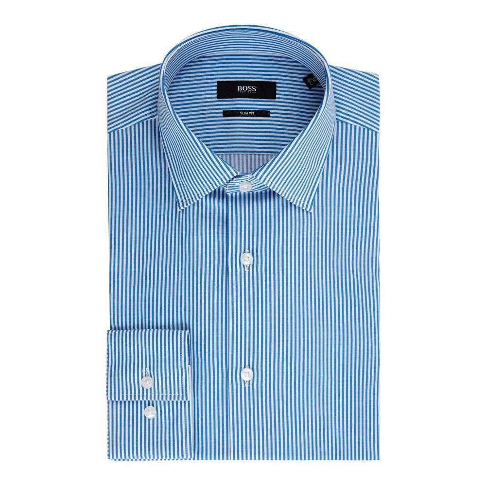 ヒューゴ ボス Hugo Boss メンズ トップス シャツ【Jenno Slim Fit Bengal Stripe Shirt】blue