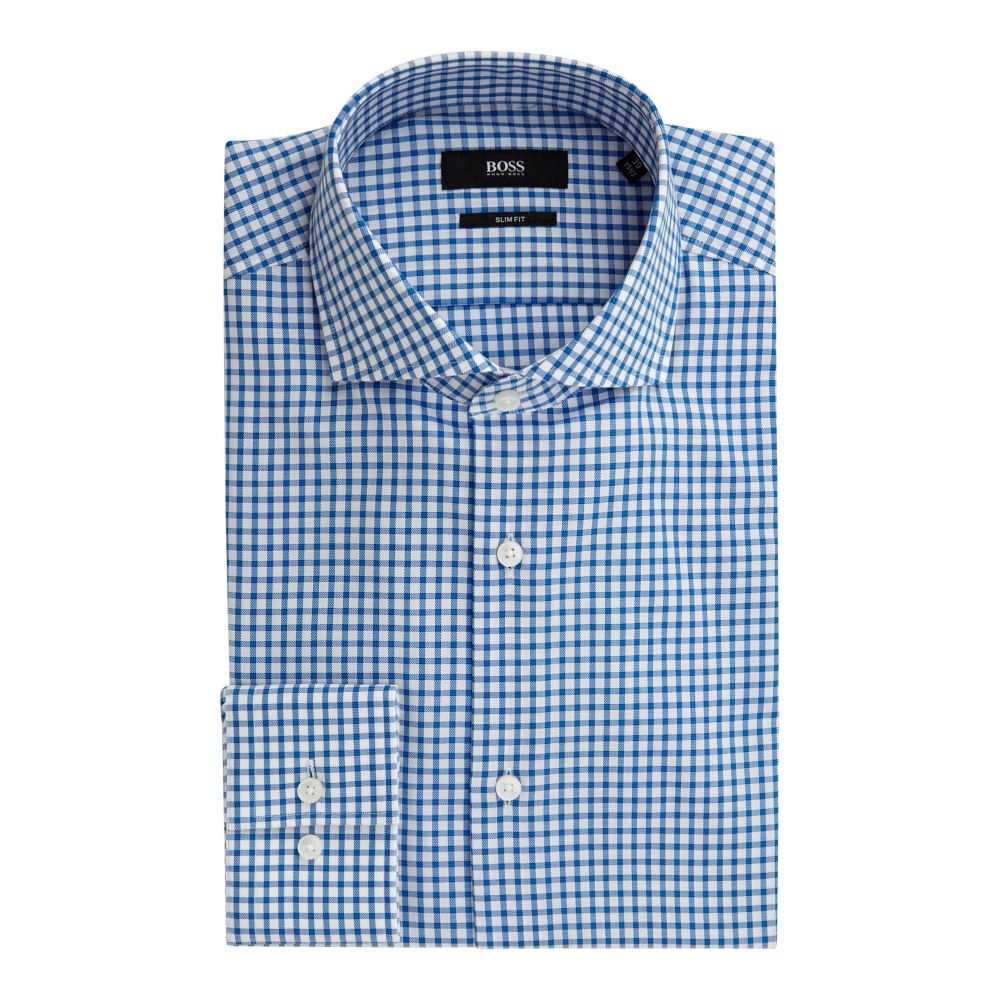 ヒューゴ ボス Hugo Boss メンズ トップス シャツ【Jason Slim Fit Grid Check Shirt】blue