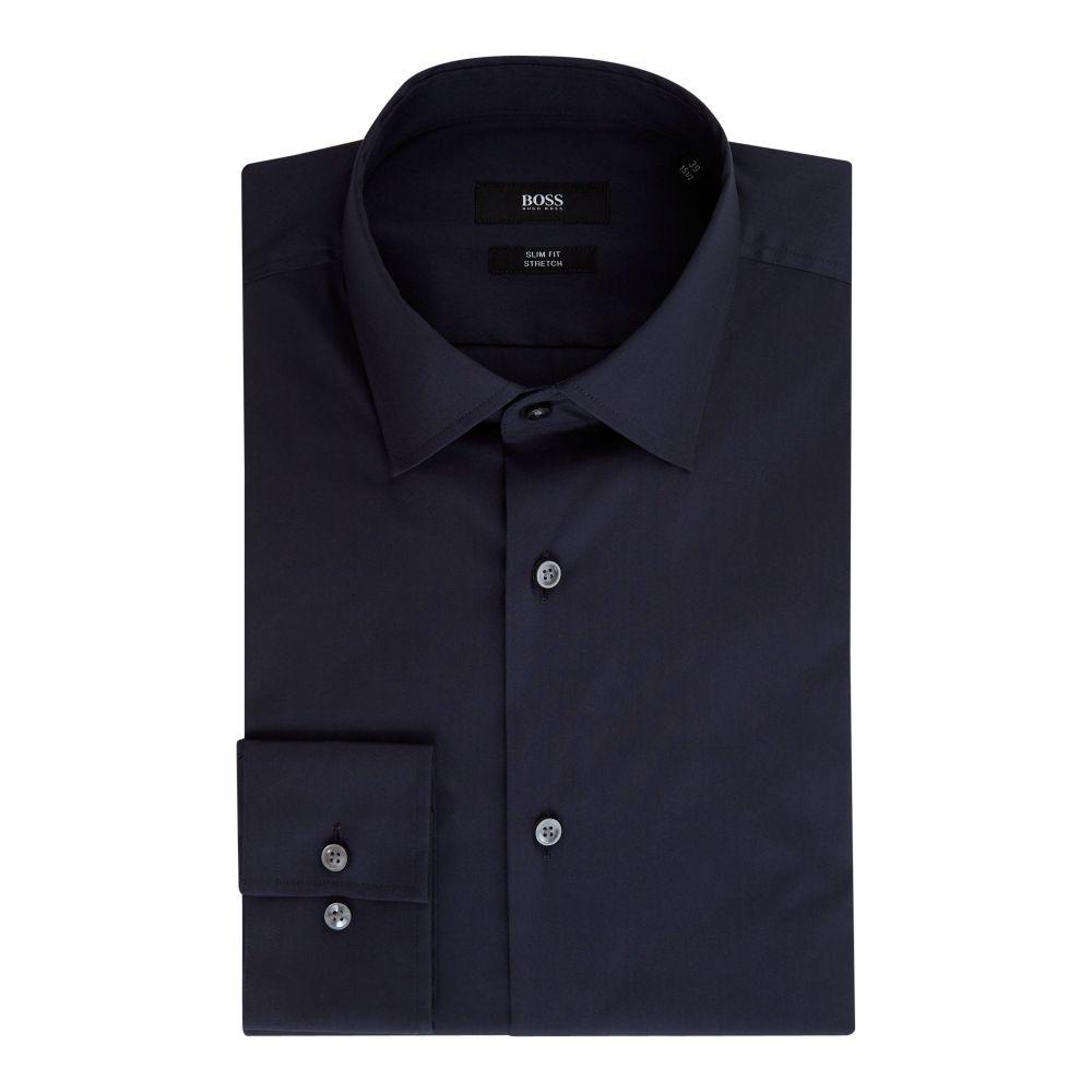 ヒューゴ ボス Hugo Boss メンズ トップス シャツ【Jenno Slim Fit Stretch Shirt】navy