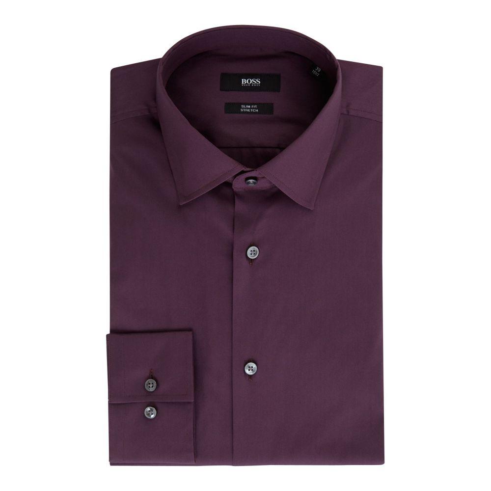 ヒューゴ ボス Hugo Boss メンズ トップス シャツ【Jenno Slim Fit Stretch Shirt】berry