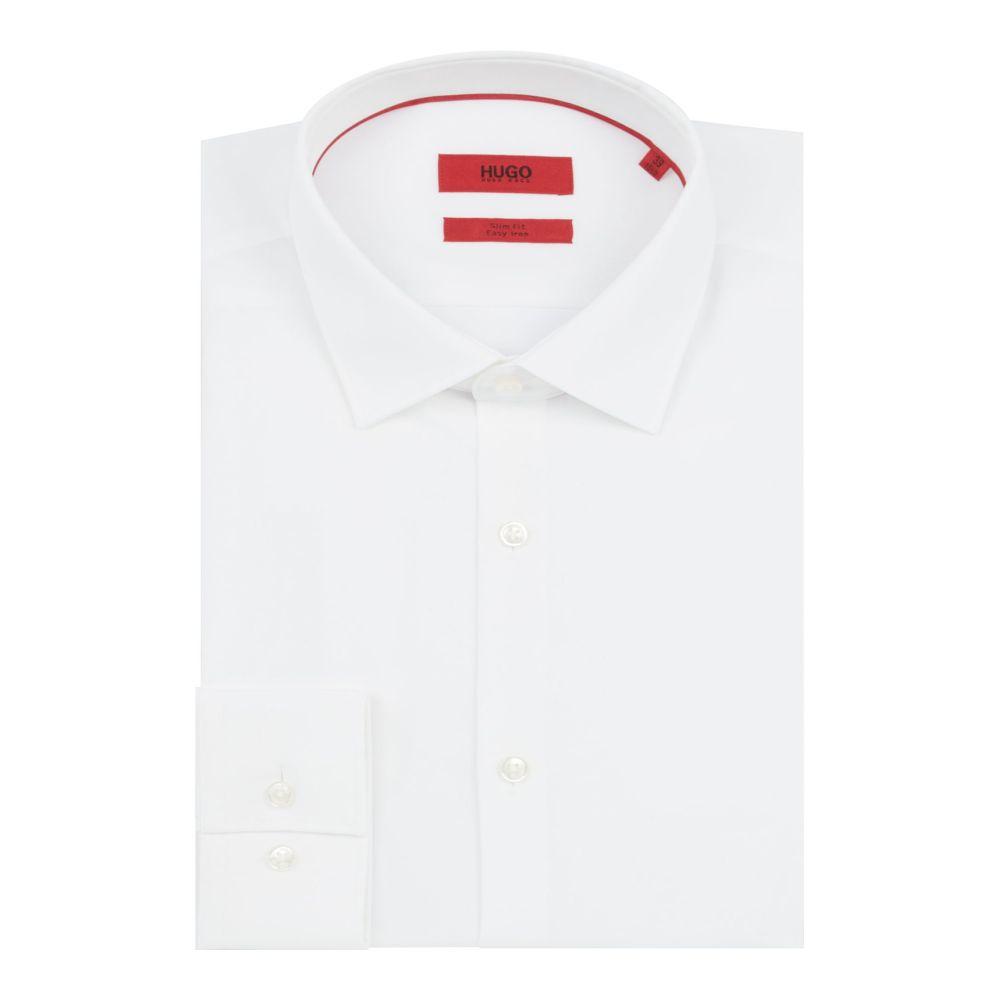 ヒューゴ ボス Hugo メンズ トップス シャツ【Kenno Slim Contrast Button And Piping Shirt】white