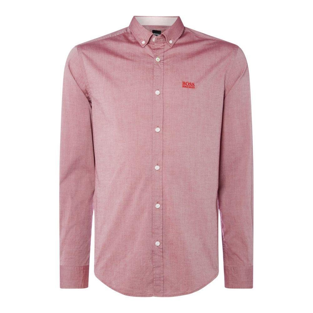ヒューゴ ボス Hugo Boss メンズ トップス シャツ【Biado Regular Fit Contrast Logo Shirt】burgundy