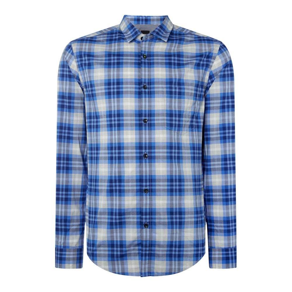 ヒューゴ ボス Hugo Boss メンズ トップス シャツ【Baul Regular Fit Check Shirt】blue