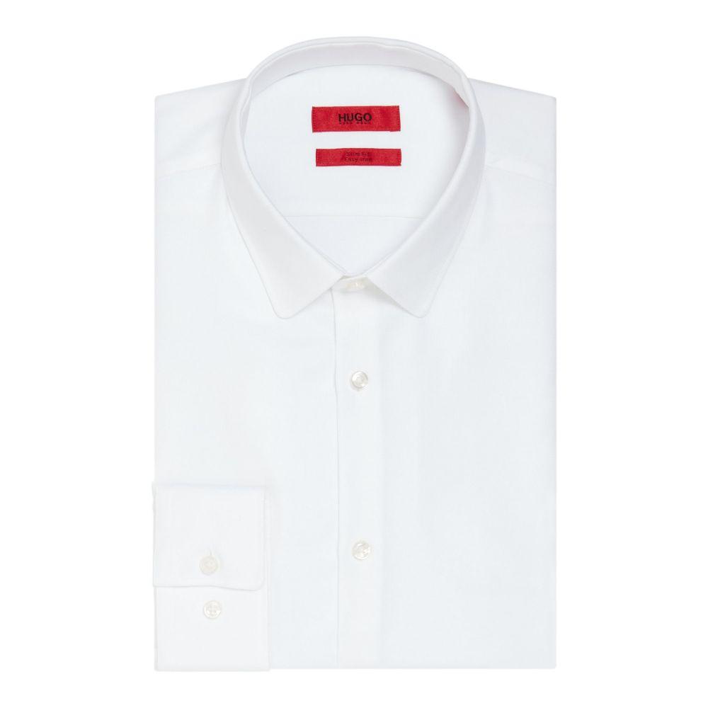 ヒューゴ ボス Hugo メンズ トップス シャツ【Slim Fit Penny Collar Shirt】white