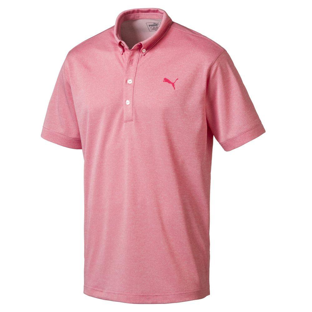 プーマ Puma メンズ トップス ポロシャツ【Oxford Heather Polo】pink