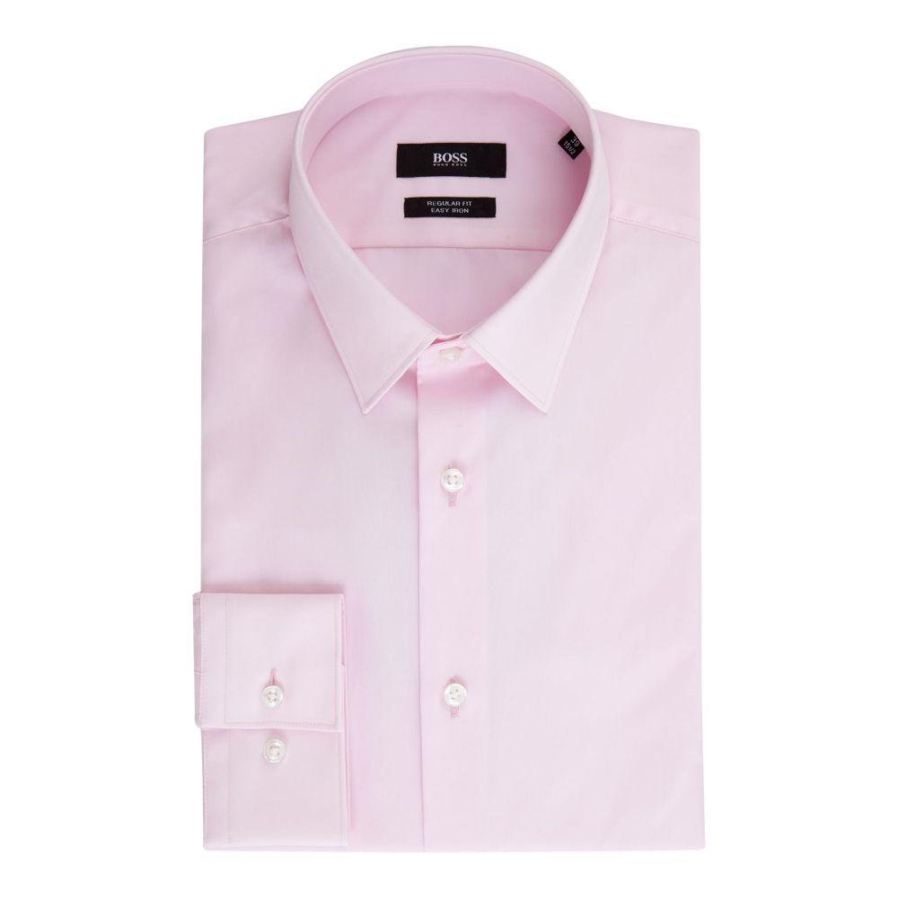 ヒューゴ ボス Hugo Boss メンズ トップス シャツ【Eliott Regular Fit Plain Shirt】light pink