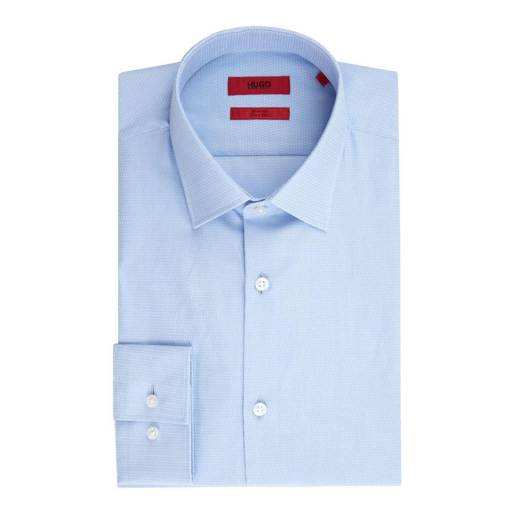 ヒューゴ ボス Hugo メンズ トップス シャツ【Kenno Slim 2 Ply Diamond Jacquard Shirt】sky